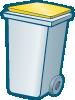 poubelle jaune